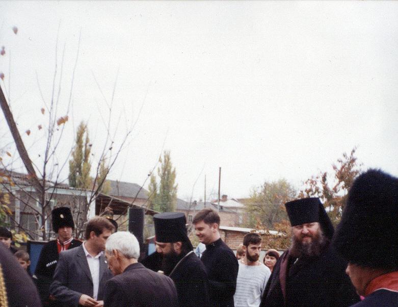 Епископ Ейский и благочинный Стефан на престольном празднике 2010г