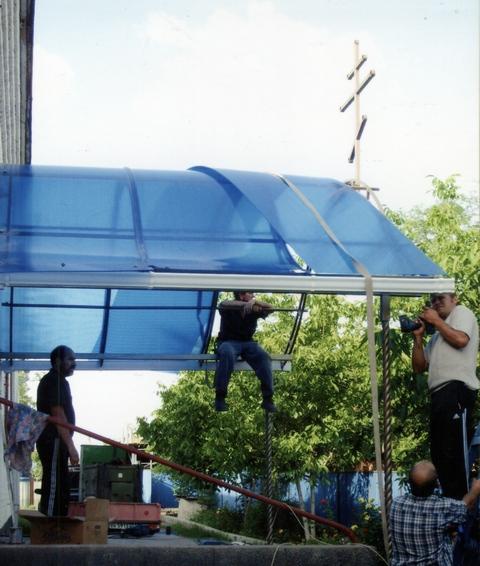 Реконструкция навеса завершается 09,07,2010г